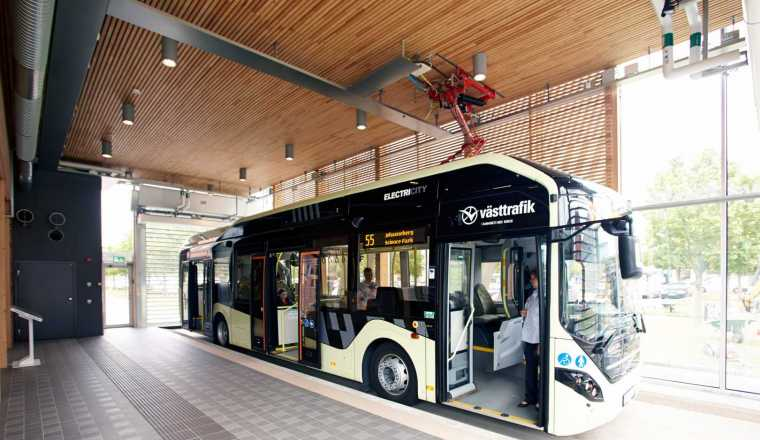 Indoor bus stop Electricity