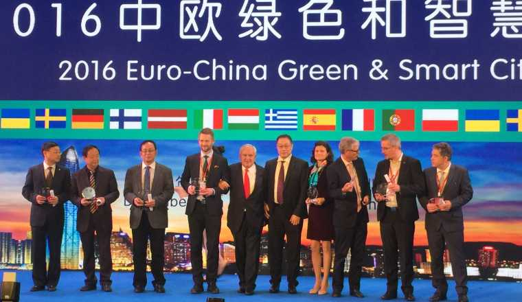 Pristagare CINEV 2016 och Euro-China Green & Smart City Awards